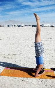 yoga burning man style